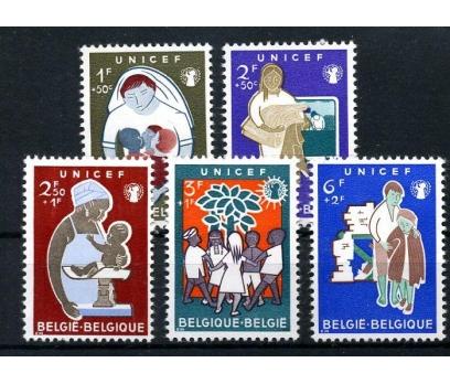 BELÇİKA ** 1960 UNICEF 5 VALÖR (230915)