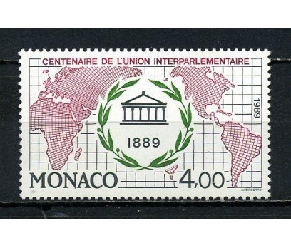 MONAKO ** 1989 IPU 100.YIL TAM SERİ (091015)