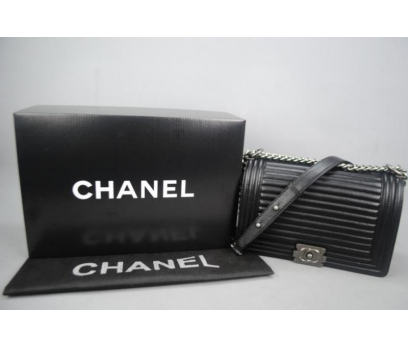 CHANEL BOY HORİZONTAL QUİLTİNG MEDİUM %100 hakiki