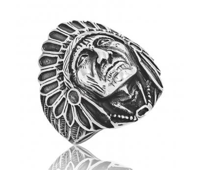 Gümüş Kızılderili Erkek Yüzüğü