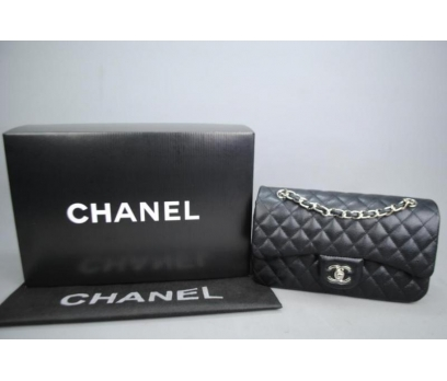 CHANEL CAVİAR FLAP BAG 2,55 ORTA BOY %100 DERİ 1 2x