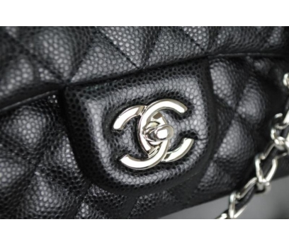 CHANEL CAVİAR FLAP BAG 2,55 ORTA BOY %100 DERİ 3 2x