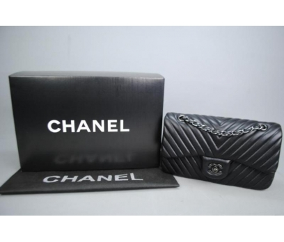CHANEL CHEVRON FLAP BAG 2,55 ORTA BOY %100 DERİ