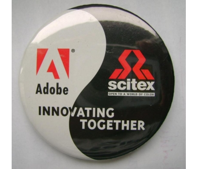 ADOBE - SCITEX  INNOVATING TOGETHER.  POP ROZET