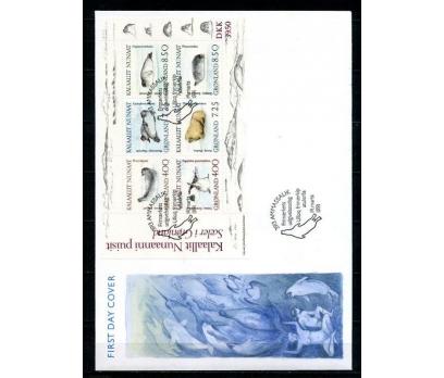 GRÖNLAND 1991 FDC KUTUP HAYVANLARI SÜPER (003)