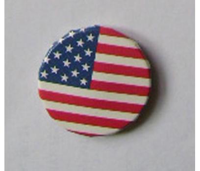 (USA) AMERİKAN BAYRAĞI YUVARLAK. POP ROZET