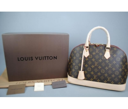 LOUİS VUİTTON MONOGRAM CANVAS ALMA %100 HAKİK DERİ