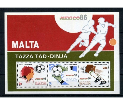 MALTA ** 1986 FUTBOL & MEKSİKA 86 BLOK SÜPER (006)