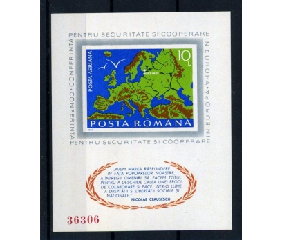 ROMANYA ** 1975 AVRUPA KONF.DANTELSİZ BLOK(005)