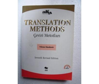 TRANSLATION METHODS Yılmaz Hasdemir ALFA YAYINLARI