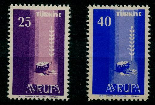 1958 Avrupa Europa Cept Damgasız** 1