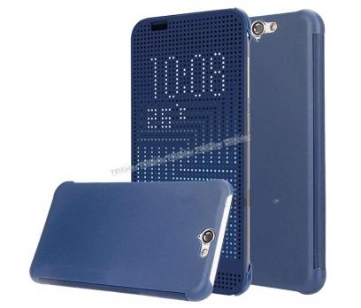 HTC One A9 Dot view Akıllı Kılıf Mavi