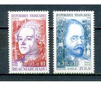 FRANSA ** 1967 ZOLA & BEAUMARCHAIS TAM S.(280315)