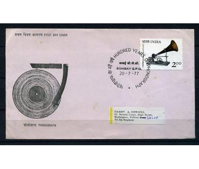 HİNDİSTAN 1977 FDC FONOGRAF PG. SÜPER (009)