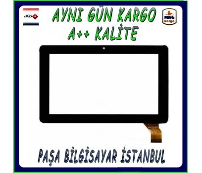 Polypad C504 Dokunmatik Tablet Camı Siyah Tablet Dış Camı