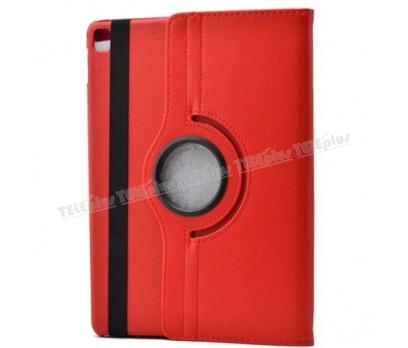 iPad Pro 9.7 inç 360 Derece Dönebilen Standlı Kılıf Kırmızı