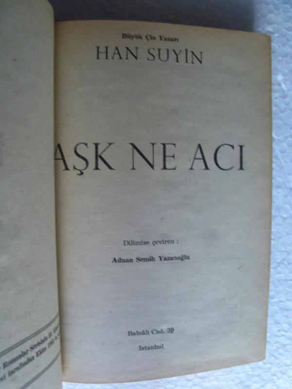 AŞK NE ACI Han Suyin ALTIN KİTAPLAR YAYINLARI 2