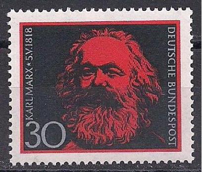 1968 Almanya Karl Marx Damgasız**