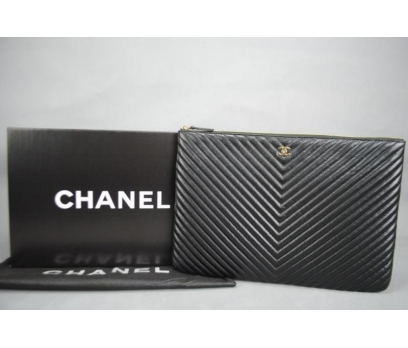 CHANEL O'CASE CLUTCH %100 HAKİKİ DERİ