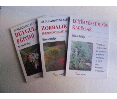 BERNA BRIDGE KİTAPLARI - ZORBALIK,.. 3 ADET imzalı