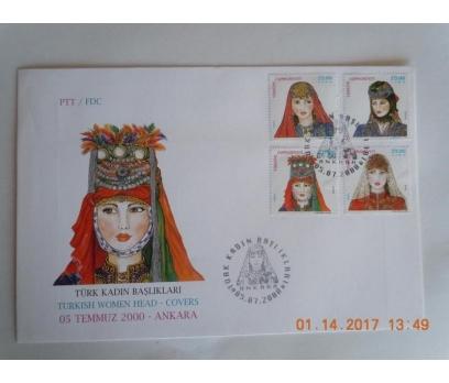2000 TÜRK KADIN BAŞLIKLARI  F.D.C. 1