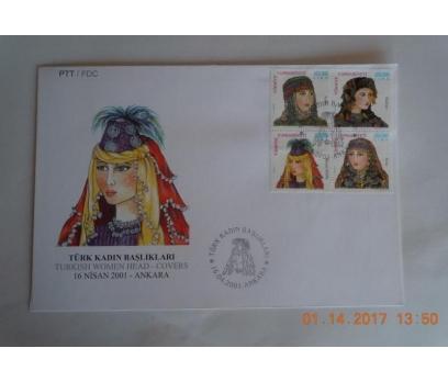 2001 TÜRK KADIN BAŞLIKLARI  F.D.C.