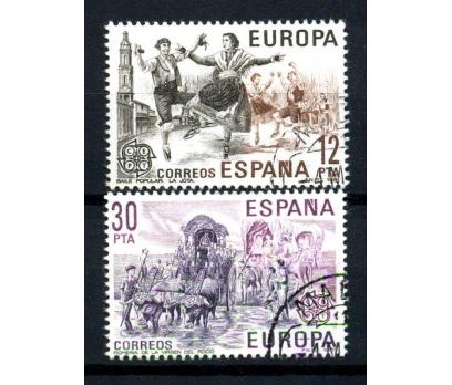 İSPANYA DAMGALI 1981 EUROPA CEPT TAM SERİ(160102)