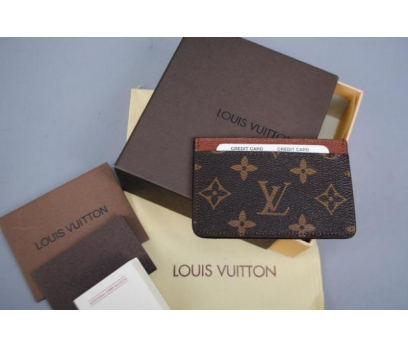 LOUIS VUITTON MONOGRAM CANVAS %HAKİKİ DERİ KARTLIK