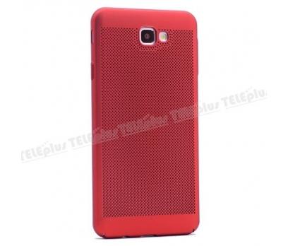 Samsung Galaxy J5 Prime Delikli Sert Kapak Kırmızı