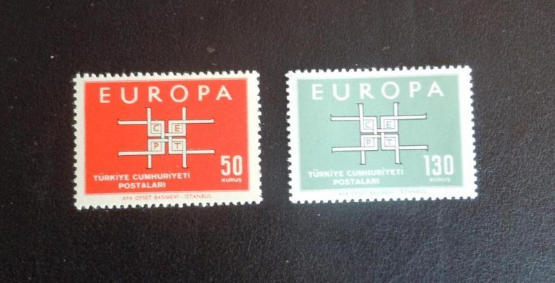 1963 AVRUPA-CEPT TAM SERİ (MNH) 1