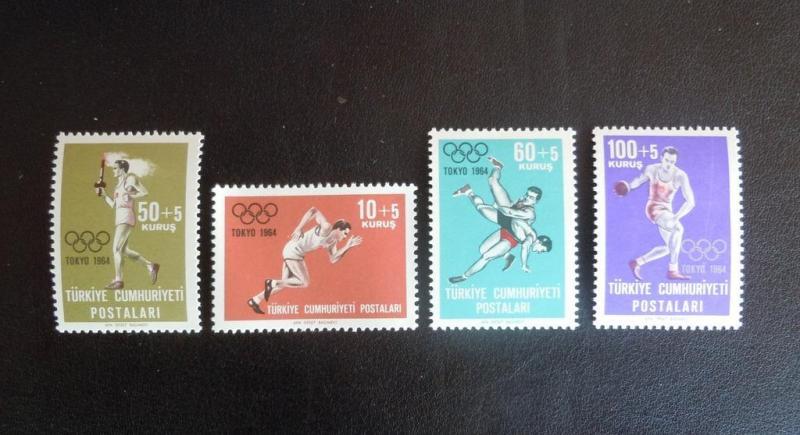 1964 TOKYO YAZ OLİMPİYATLARI TAM SERİ (MNH) 1