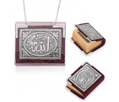 Zincirli Gümüş Küçük Kur'anı-ı Kerim