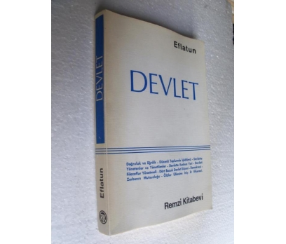 DEVLET  - EFLATUN remzi kitabevi yay.