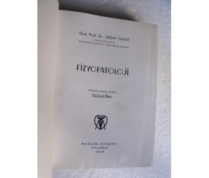 FİZYOPATOLOJİ - SEDAT TAVAT 1949 mazlum kitabevi 3