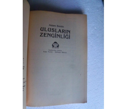 ULUSLARIN ZENGİNLİĞİ Adam Smith 2