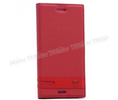 Motorola Moto 4G Plus Mıknatıslı Lux Kapaklı Kılıf Kırmızı 1