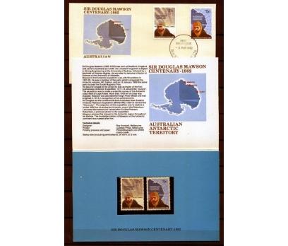 ANT.AVS.PP & FDC 1982 D.MAWSON 100 YAŞINDA (AV-5)