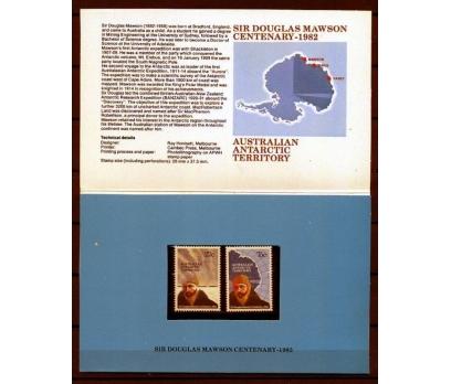ANT.AVS.PP & FDC 1982 D.MAWSON 100 YAŞINDA (AV-5) 3