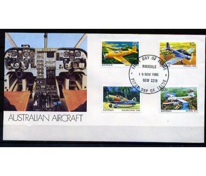 AVUSTRALYA FDC 1980 UÇAKLAR TAM SERİ SÜPER (AV-5)