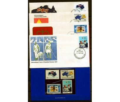 AVUSTRALYA PP & 4 FDC 1981 MİLLİ BAYRAM VD (AV-5)