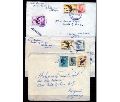 CUMHURİYET 1962 KUŞ TEMALI  P.G. 3 ZARF(K002)