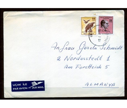 CUMHURİYET 1967 ATATÜRK PULUYLA PGZ (K003)