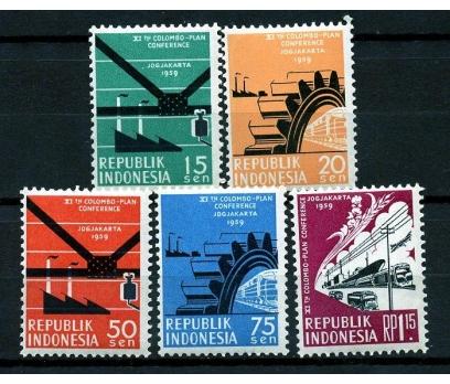 ENDONEZYA ** 1959 KOLOMBO KONF.TAM SERİ (170110)