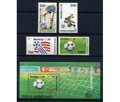 ENDONEZYA ** 1994 FUTBOL TAM SERİ + BLOK  (170103)