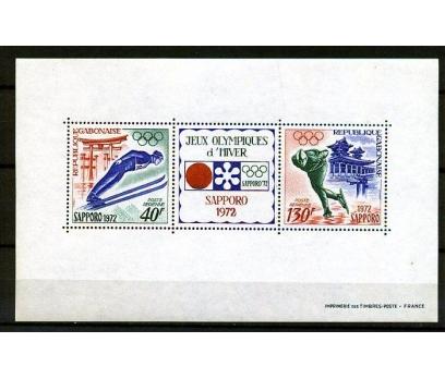 GABON ** 1972 SAPPORO 72  KIŞ OY.BLOK (160110)