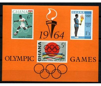 GANA ** 1964 OLİMPİYAT BLOK SÜPER (170103)