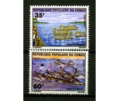 KONGO ** 1977 PİROGUES YARIŞMALARI TAM(160108)
