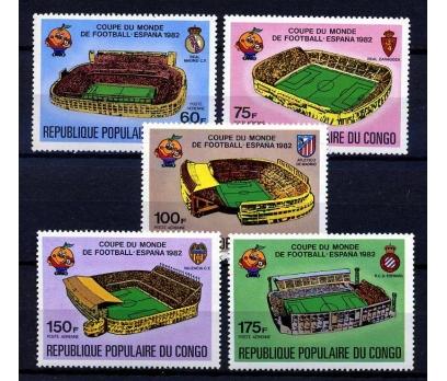 KONGO ** 1982 FUTBOL & İSPANYA 82 TAM SERİ(160108)