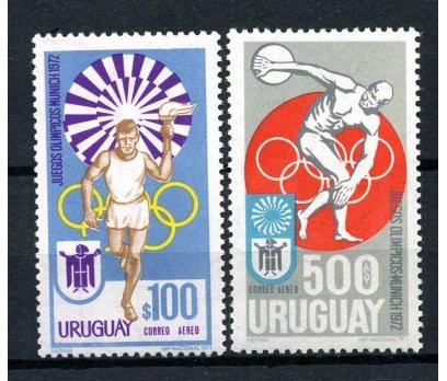 URUGUAY ** 1972 MÜNİH OLİMP.SON 2 VALÖR  (170104)