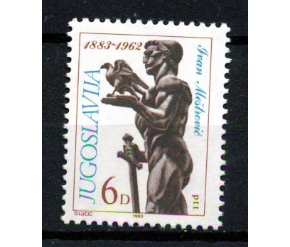YUGOSLAVYA ** 1983 RESSAM I.MESTROVİÇ TAM (170111)